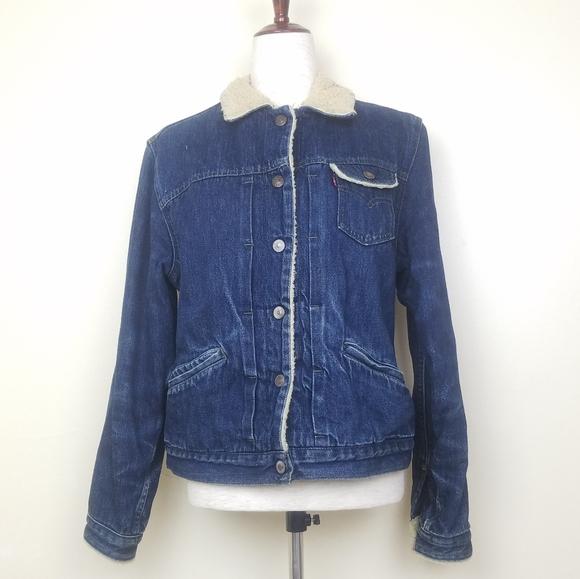 Levi's Red Tab Vintage Sherpa Jean Jacket Sz LJR